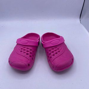 pink hole shoes one-step sandals